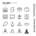 islamic icons | Shutterstock .eps vector #510703102