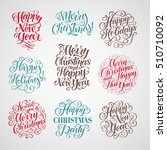 vector christmas set of... | Shutterstock .eps vector #510710092