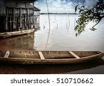 A Dugout Canoe Beached On The...
