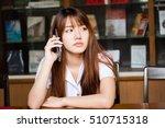 portrait of thai adult student... | Shutterstock . vector #510715318