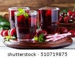 homemade fresh cherry juice in... | Shutterstock . vector #510719875