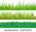 set grass. three samples for... | Shutterstock .eps vector #51072292
