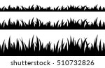 set of seamless the grass. | Shutterstock .eps vector #510732826