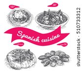 menu of spain monochrome... | Shutterstock .eps vector #510733312