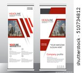red roll up business brochure... | Shutterstock .eps vector #510734812