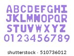 letters and numerals english... | Shutterstock . vector #510736012