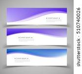 set of banner templates. ... | Shutterstock .eps vector #510740026