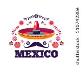 mexican pattern  beautiful... | Shutterstock .eps vector #510742306