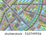 city view from above.  streets  ... | Shutterstock .eps vector #510749956