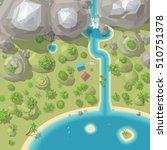 vector illustration. landscape... | Shutterstock .eps vector #510751378