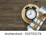meal time with alarm clock ...   Shutterstock . vector #510752176