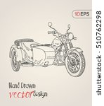 motorcycle. vector illustration ... | Shutterstock .eps vector #510762298