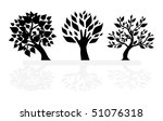 set of tree silhouettes | Shutterstock .eps vector #51076318