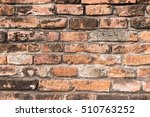 old brick wall  grudge brick... | Shutterstock . vector #510763252
