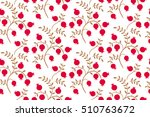 floral seamless pattern on a... | Shutterstock .eps vector #510763672