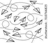 paper planes background | Shutterstock .eps vector #510766825