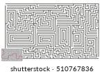 large vector horizontal maze... | Shutterstock .eps vector #510767836