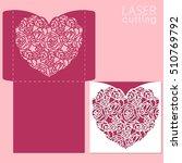 die laser cut vector template.... | Shutterstock .eps vector #510769792