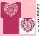 die laser cut vector template.... | Shutterstock .eps vector #510769912