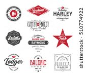 vintage logo set. vector... | Shutterstock .eps vector #510774922