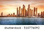 beautiful dubai cityscape ... | Shutterstock . vector #510776092