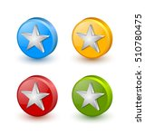 colorful star icons placed on... | Shutterstock .eps vector #510780475