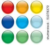 button from colors. vector. | Shutterstock .eps vector #51078370