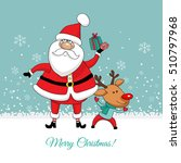christmas card. santa claus and ... | Shutterstock .eps vector #510797968