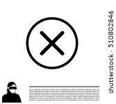 delete sign  icon. remove... | Shutterstock .eps vector #510802846