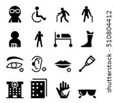 handicap and disabled people... | Shutterstock .eps vector #510804412