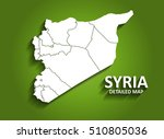 syria   detailed map on green... | Shutterstock .eps vector #510805036
