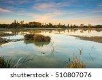 colorful sundown at swamp   Shutterstock . vector #510807076