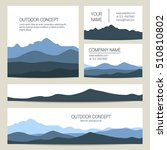 set of blue mountains and... | Shutterstock .eps vector #510810802