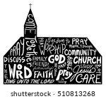 Church Shape With Word Cloud...