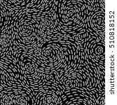 seamless monochrome organic... | Shutterstock .eps vector #510818152