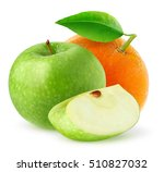 isolated fruits. green apple... | Shutterstock . vector #510827032