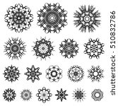 vector set of different tribal... | Shutterstock .eps vector #510832786