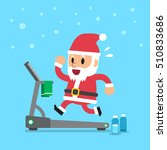 cartoon santa claus running on... | Shutterstock .eps vector #510833686