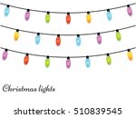 christmas light bulbs. xmas... | Shutterstock .eps vector #510839545
