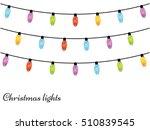 christmas light bulbs. xmas... | Shutterstock .eps vector #510839545