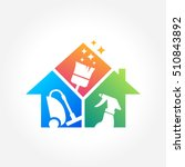 cleaning service business logo... | Shutterstock .eps vector #510843892