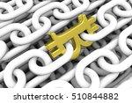 block chain  in a bitcoin 3d... | Shutterstock . vector #510844882