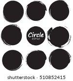 set of 9 circles vector design... | Shutterstock .eps vector #510852415