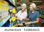 positive female clients buying... | Shutterstock . vector #510864622