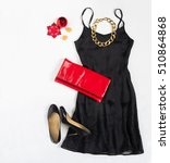christmas party outfit.... | Shutterstock . vector #510864868