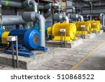 large water pumps with electric ... | Shutterstock . vector #510868522