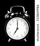 black alarm clock seven o clock ... | Shutterstock . vector #510869986