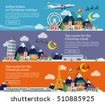 winter travel to uk  italy and... | Shutterstock .eps vector #510885925
