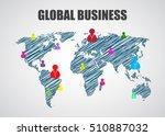 map of the world  business...   Shutterstock . vector #510887032
