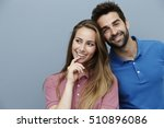 smiling polo shirt couple in... | Shutterstock . vector #510896086